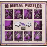 Набор из 10 металических головоломок Фиолетовый