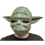 3D конструктор из дизайнерского картона Маска Мастер Йода
