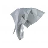 3D конструктор из дизайнерского картона Слон Володя серый