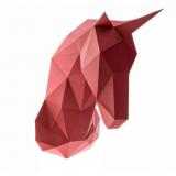 3D конструктор из дизайнерского картона Единорог Гранат