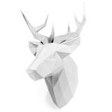 3D конструктор из дизайнерского картона Олень Петрович белый