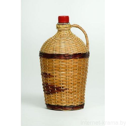 Бутылка Ровоам 4,5л оплетенная лозой